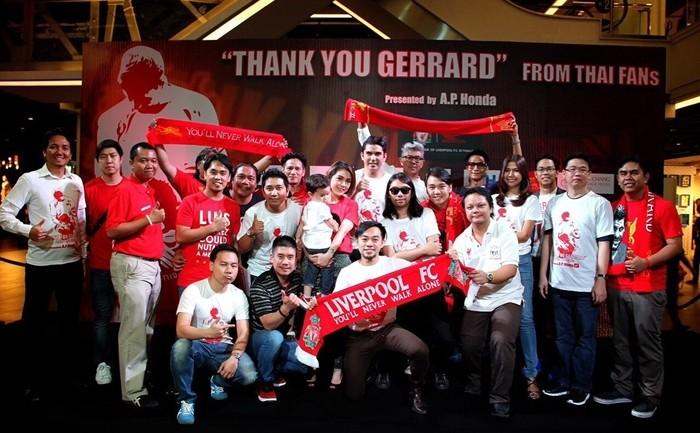 สมาคมคนไทยเชียร์ลิเวอร์พูล จัด Thank You Gerrard From Thai Fans Presented by A.P. Honda