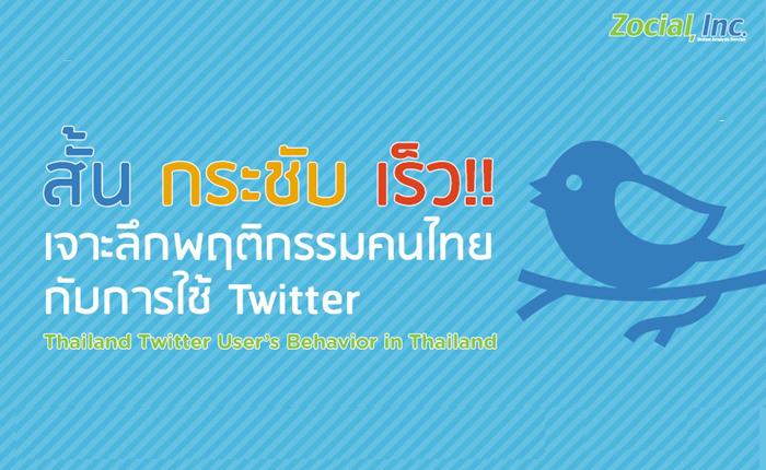 สั้น กระชับ เร็ว!! เจาะลึกพฤติกรรมคนไทยกับการใช้ Twitter