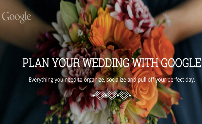 กูเกิลชวนคนหันมาทดลองใช้หลากบริการ ผ่านคอนเซปต์เดียวคือ การวางแผนงานแต่งด้วยบริการ google weddings