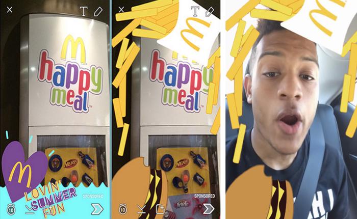 แมคฯ เข้าถึงวัยทีนด้วยโฆษณาแนวใหม่ผ่านฟีเจอร์ GeoFilter ในแอปฯ SnapChat