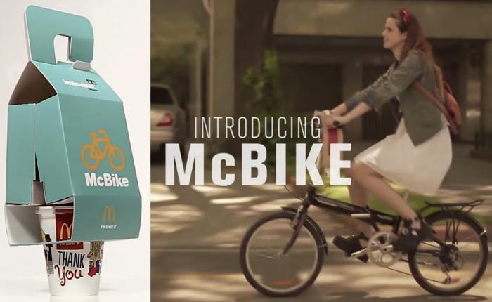 แมคฯเอาใจฮิปสเตอร์ออกแพคเกจใหม่หิ้วชุดเบอร์เกอร์ใส่แฮนด์จักรยานไปอิ่มที่บ้านได้อย่างเท่!