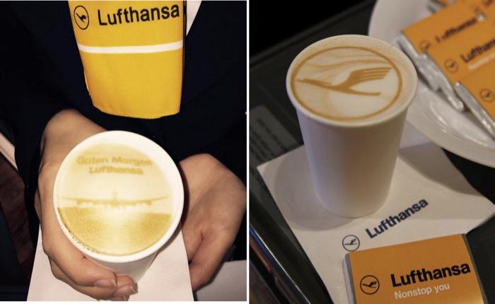 สายการบิน Lufthansa ใส่ใจแม้เรื่องเล็กๆส่ง Latte Art เสิร์ฟเซอร์ไพรส์ลูกค้าชั้นธุรกิจ