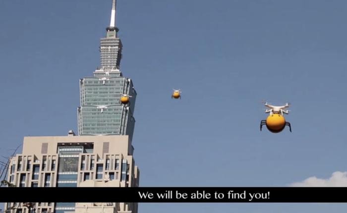 ไต้หวันใช้โดรนรูปผึ้งน้อยบินว่อนทั่วไทเปโปรโมทเบียร์รสน้ำผึ้ง