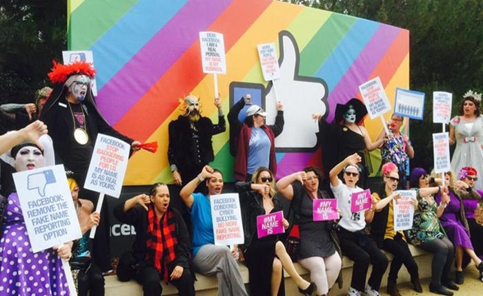 """กลุ่มรักร่วมเพศเป็นแกนนำต่อต้านนโยบาย """"ใช้ชื่อจริง"""" ของ Facebook"""