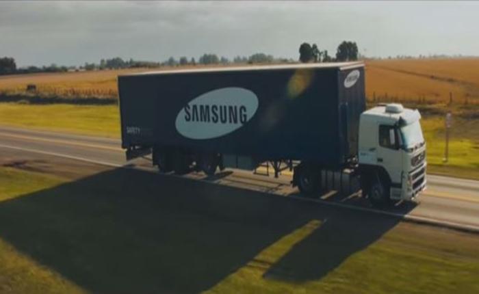 """แคมเปญ """"Safety Truck"""" ของซัมซุง ช่วยลดอุบัติเหตุบนถนน เข้าชิง Cannes 2015"""