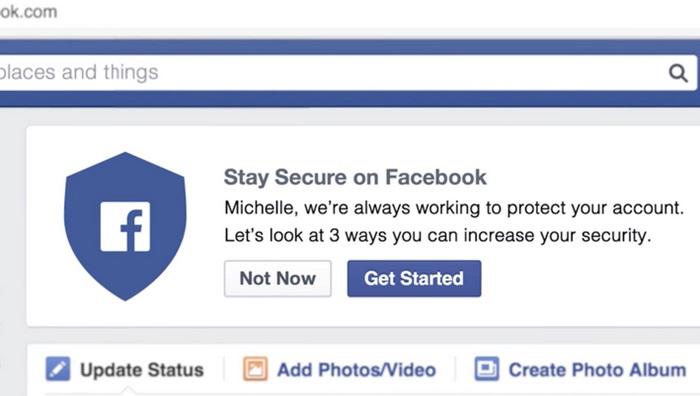 Facebook กระตุ้นให้ผู้ใช้ปรับออฟชั่นการรักษาความปลอดภัย
