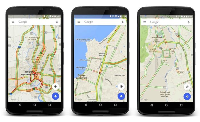 Google Maps ทางเลือกใหม่ในการเอาชนะการจราจรในประเทศไทย