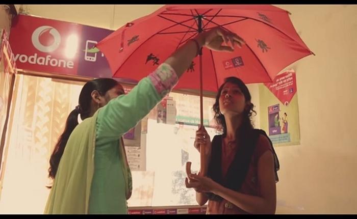 "Vodafone ทำแคมเปญดี ออกแบบ ""ร่ม"" เพื่อช่วยผู้หญิงอินเดียปกป้องตัวเอง"