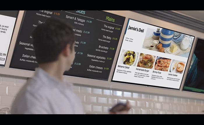 Samsung Smart Signage TV ทีวีที่สามารถเป็นเครื่องมือส่งเสริมการขายให้กับร้านค้าได้