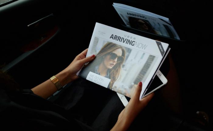 Uber ประเดิมแจกนิตยสารของตัวเองชื่อ Arriving Now โปรโมทนิวยอร์ก แฟชั่นวีค
