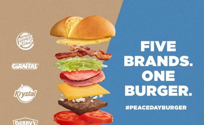 "Burger King เดินหน้าต่อทำ ""Peace Day Burger"" รวบรวม 5 แบรนด์ชั้นนำมาร่วมจอย"