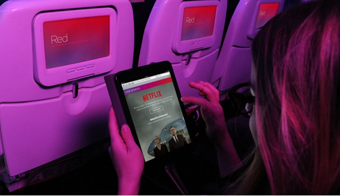 Virgin America จับมือ Netflix สตรีมคอนเทนต์และ WiFi บนเครื่องฟรี