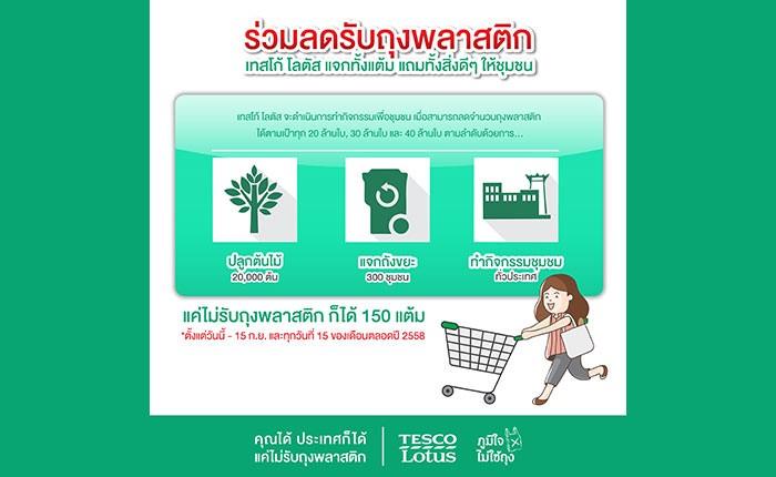 ปลื้มใจ คนไทยให้ความร่วมมือเทสโก้ โลตัส ลดการใช้ถุงพลาสติกไปแล้วกว่า 5 ล้านใบ!