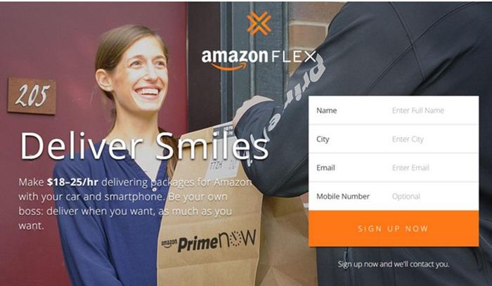 Amazon Flex บริการส่งของที่เปิดโอกาสให้ผู้ใช้ส่งของกันเองได้