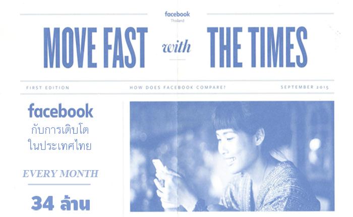infographic การเติบโตแบบก้าวกระโดดของ Facebook ในไทย