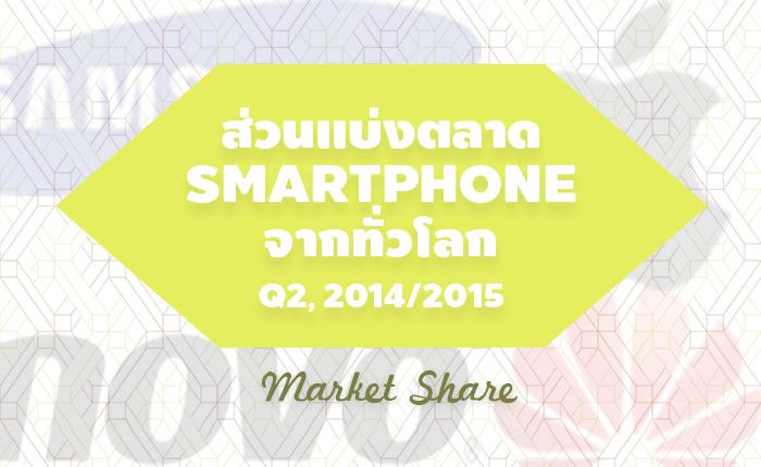 ส่วนแบ่งตลาด Smartphone จากทั่วโลก