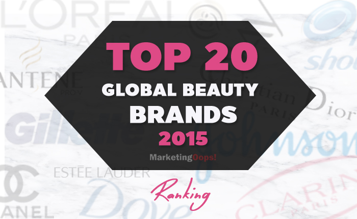 TOP 20 Beauty Brands ระดับโลก 2015