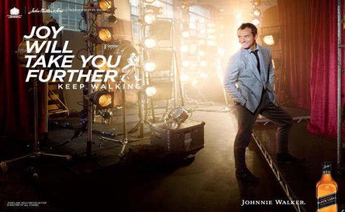 """Johnnie Walker ส่งโฆษณาใหม่ลดมาดซีเรียสสอนนักดื่มจงใช้ """"ความสุข"""" นำทางชีวิต!"""