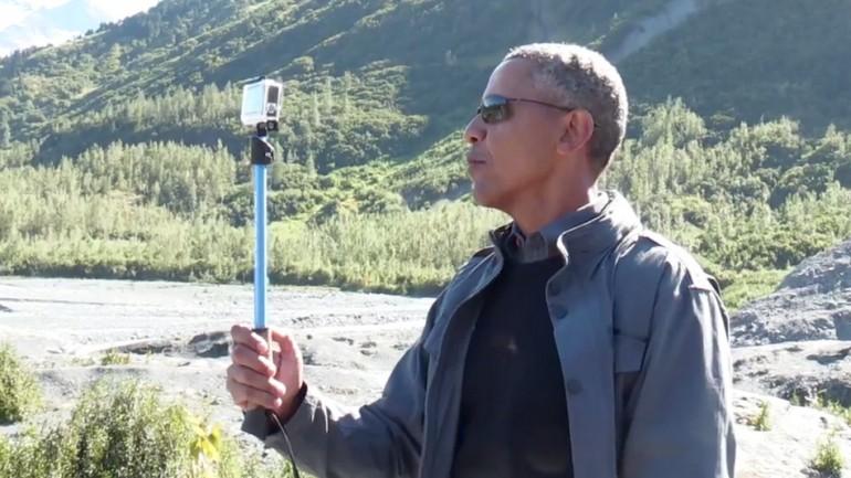 Obama จับกลุ่มคนรุ่นใหม่-เสนอภาพทำงานผ่านเซลฟี่และ GoPro