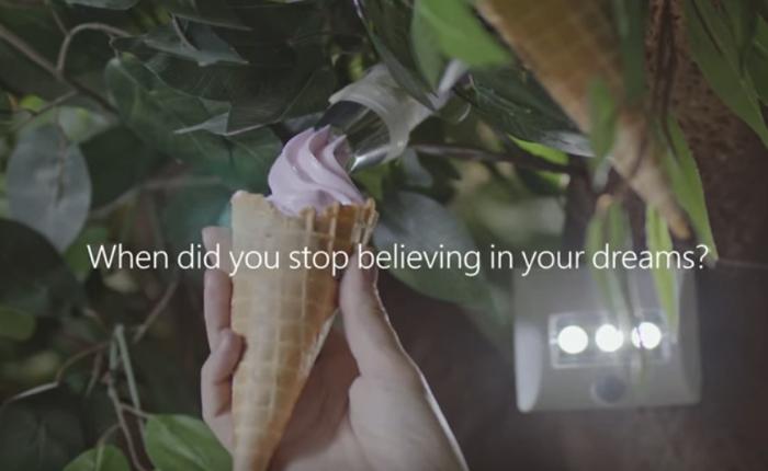 """โฆษณา Windows 10 ใหม่ล้ำจินตนาการเล่าเรื่องราวการสร้าง """"ต้นไม้ไอศกรีม"""" จากฝีมือเด็กๆ"""
