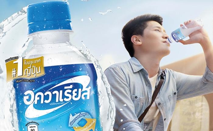 """ถึงไทยแล้ว """"อควาเรียส"""" น้ำดื่มน้องใหม่ ยอดขายอันดับหนึ่งของญี่ปุ่น"""