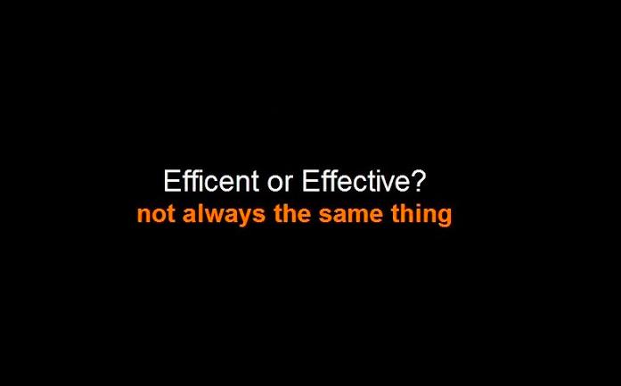 การทำงานของคุณเป็น Effectiveness หรือ Efficiency ให้กับลูกค้าคุณมากกว่ากัน?