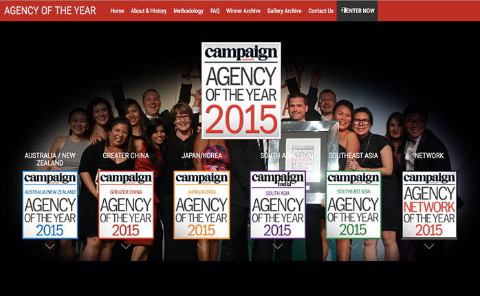 Campaign Asia เปิดรับ Agency of the year 2015 อีกเพียง 7 วันสุดท้าย
