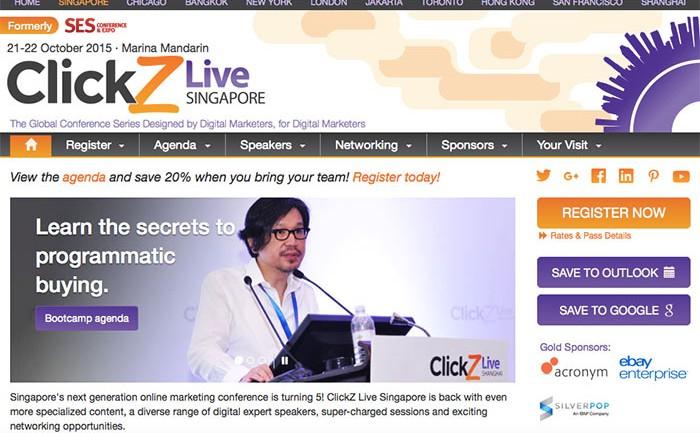 สัมมนาออนไลน์มาร์เก็ตติ้ง ClickZ Live Singapore
