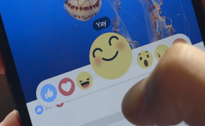"""มาแล้ว! โฉมหน้าปุ่มใหม่เคียงคู่ปุ่ม Like บน Facebook """"emoji"""" ดีๆ นี่เอง"""