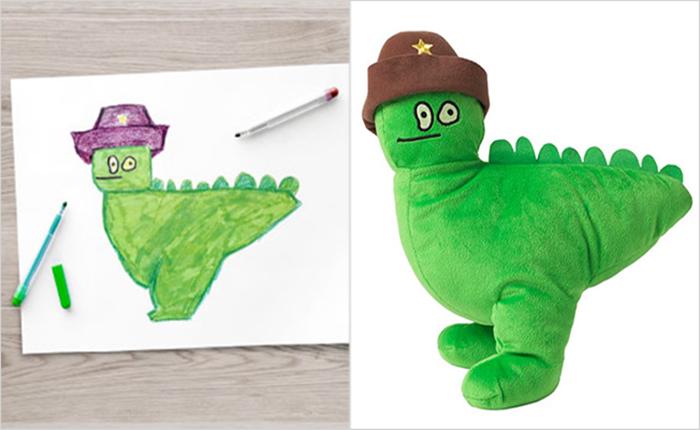 """Ikea ไอเดียเก๋ เปลี่ยนภาพวาดในจินตนาการ ให้เป็น """"ตุ๊กตา"""" ของจริง"""
