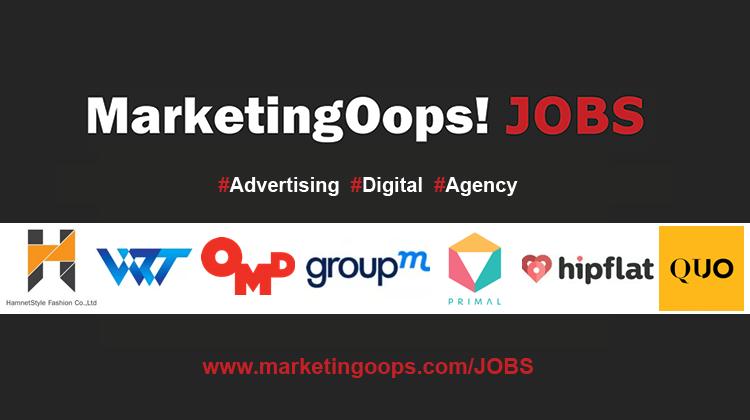 งานล่าสุด จากบริษัทและเอเจนซี่โฆษณาชั้นนำ #Advertising #Digital #JOBS 09 – 16 Oct 2015