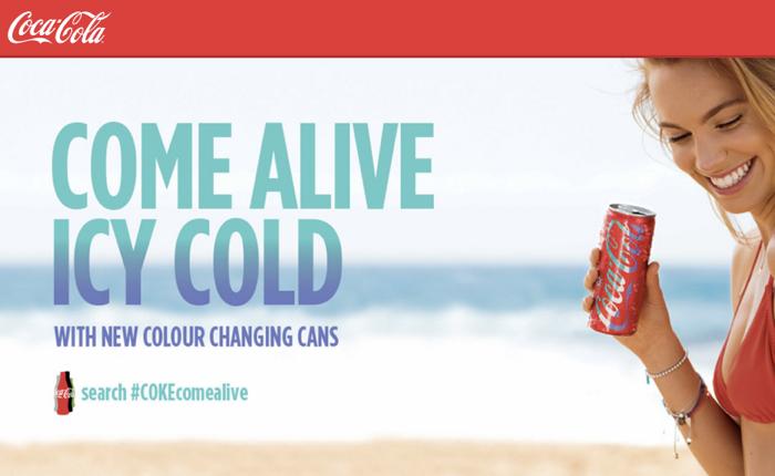 โค้กรับซัมเมอร์ เล่นกลกับวัยทีนออสซี่ ออกกระป๋องเปลี่ยนสีเมื่ออุณหภูมิสูงขึ้น