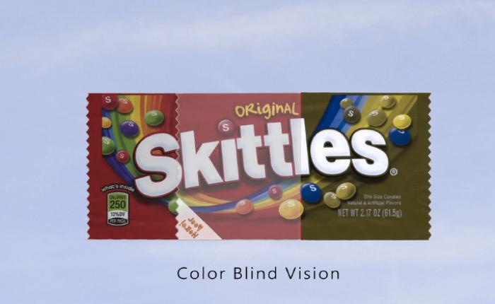 ขนมสีรุ้ง Skittles ออกแพคเกจพิเศษเอาใจคนตาบอดสีโดยเฉพาะ