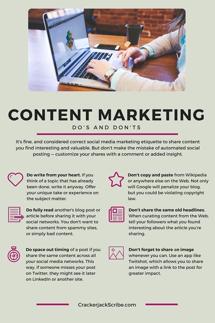 6 content marketing dos and don'ts Laura Tate crackerjackscribe-500