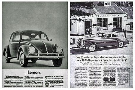 โฆษณา Lemon ของ Bernbach และ Rolls-Royce ของ Ogilvy