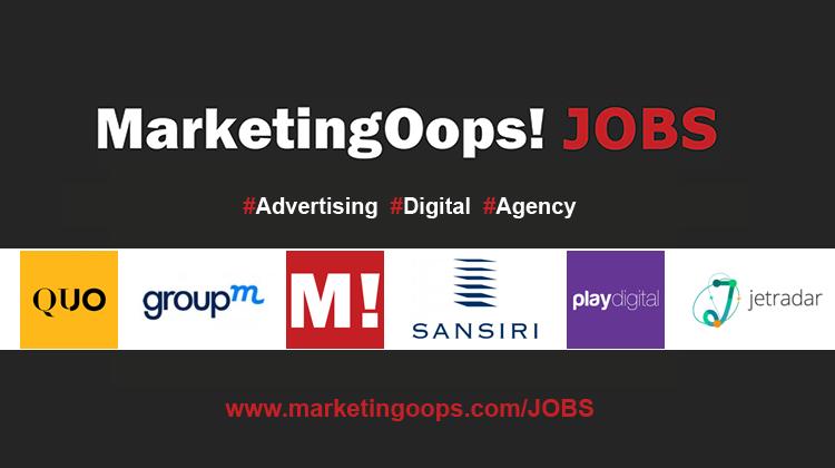 งานล่าสุด จากบริษัทและเอเจนซี่โฆษณาชั้นนำ #Advertising #Digital #JOBS 01 – 06 Nov 2015