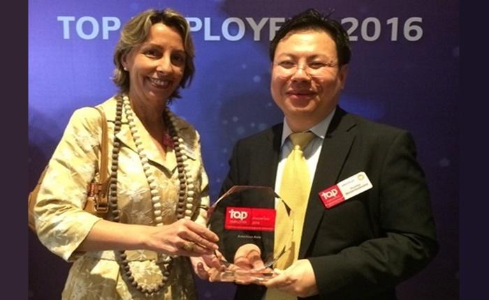 อมาเดอุส เอเชีย รับรางวัลสุดยอดบริษัทดีเด่นด้านการบริหารทรัพยากรบุคคลของประเทศไทย ประจำปี 2559