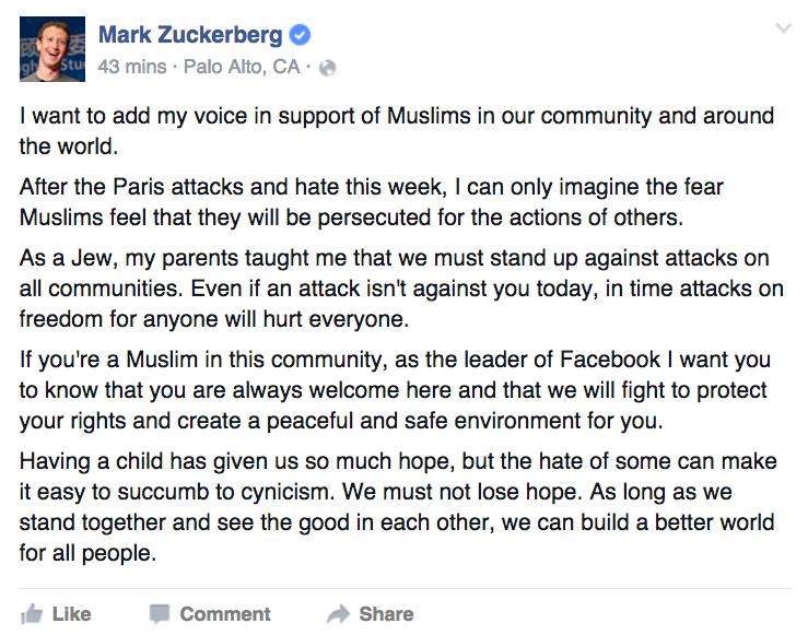 zuckerberg post