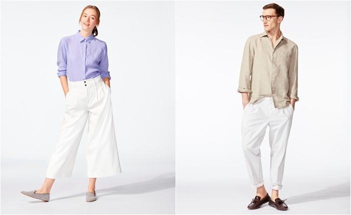"""วาเลนไทน์ปีนี้ยูนิโคล่ชวนคุณมาบอกรักให้ดังกว่าเดิมด้วย เสื้อเชิ้ตลินินสีหวาน และ เสื้อยืด """"LINE"""""""