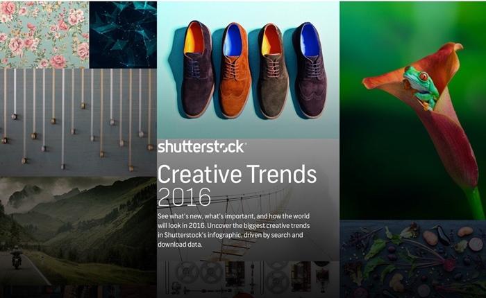 Shutterstock เผย เทรนด์ครีเอทีฟ ประจำปี 2016