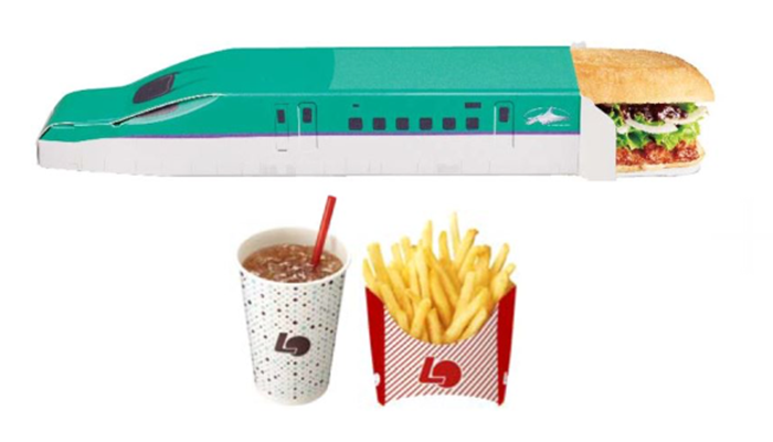 Lotteria ส่งเมนูอาหารเลียนแบบรถไฟชินคังเซ็น-ฉลองรถไฟสายฮอกไกโดสร้างเสร็จ