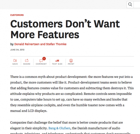 จาก https://hbr.org/2012/06/customers-dont-want-more-featu