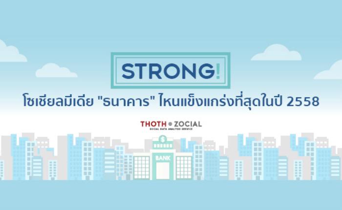 "Social Media ""ธนาคาร"" ไหน Strong ที่สุดในปี 2558"