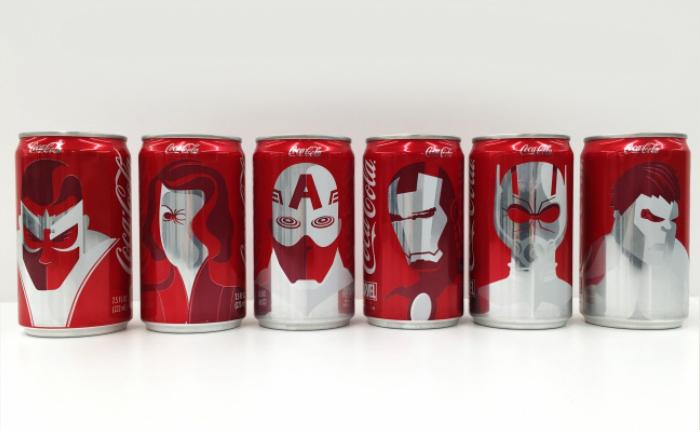 Coca-Cola จับมือ Marvel ออกแพ็กเกจใหม่ยกทัพซูเปอร์ฮีโร่มาเพียบ