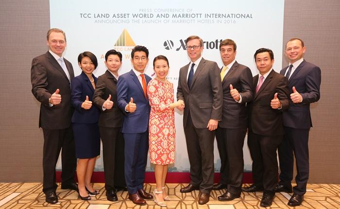 ทีซีซี แลนด์ แอสเสท เวิรด์ จับมือ แมริออท อินเตอร์เนชั่นแนล เปิดโรงแรมและรีสอร์ทสุดหรูพร้อมกัน 3 แห่งในปี 2559