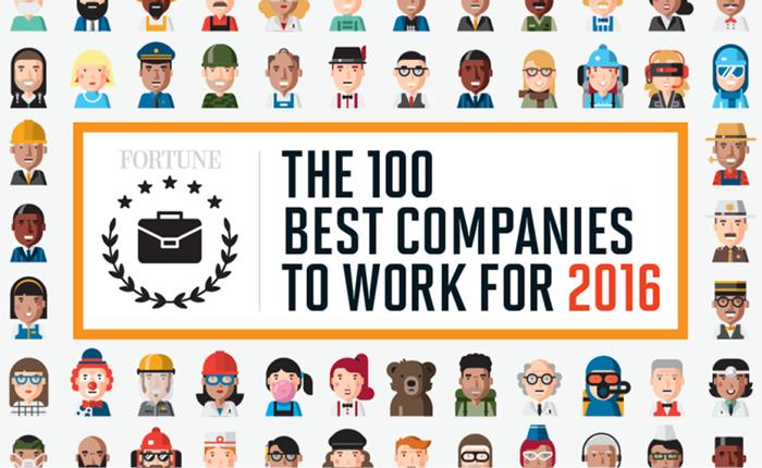 """นิตยสารฟอร์จูน เผย """"100 บริษัทที่น่าทำงานด้วยที่สุด"""""""