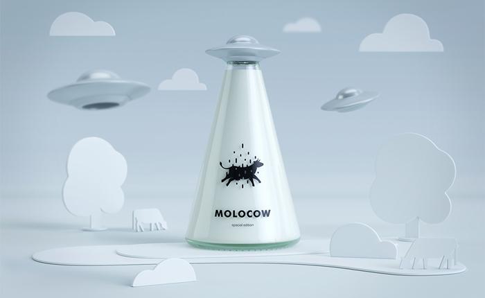 มาลักพาตัวเจ้าวัวไปบน UFO กันเถอะ! ไอเดียเก๋ๆ ของการดีไซน์ขวดนม