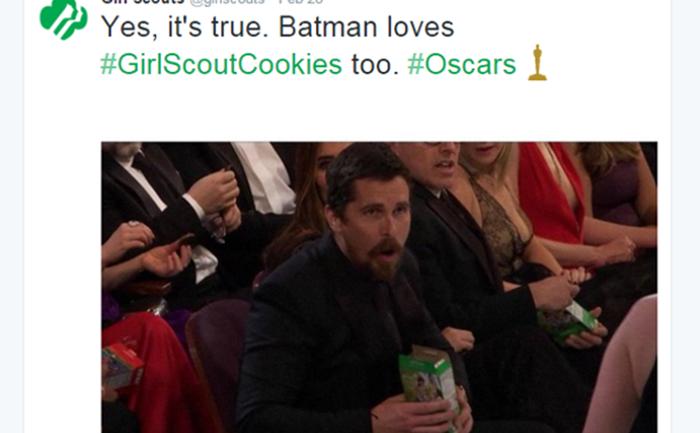 """""""คุ้กกี้เนตรนารี"""" แคมเปญสุดบรรเจิดบนเวที Oscar"""