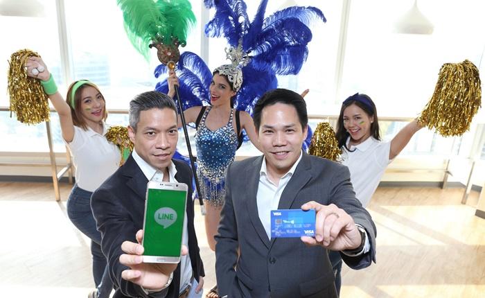 "Visa และ LINE ประกาศพันธมิตรทางการค้า ประเดิมเปิดตัวแคมเปญแรก ""Visa LINE Go for Gold"""
