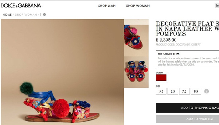 "Dolce & Gabbana ถูกชาวโซเชียลฯถล่มหลังส่ง ""รองเท้าทาส"" วางแผง"